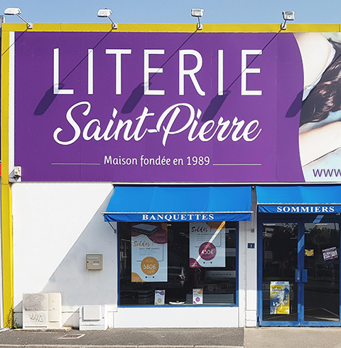 devanture magasin literie saint pierre