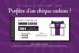 Read more about the article L'offre Literie Saint-Pierre de fin d'année en chèque cadeau !